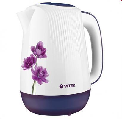 Чайник Vitek VT-7061 MC 2200 Вт белый с рисунком 1.7 л пластик недорого