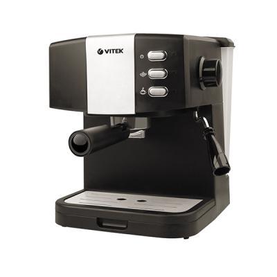 1523(MC)  Кофеварка VITEK Мощность 850 ВтДавление 15 бар.Съёмный поддон для капель.