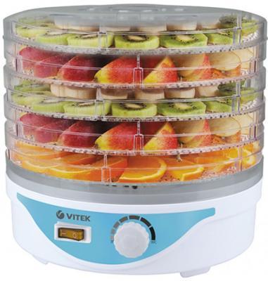 5055(W) Сушилка для овощей и фруктов VITEK.Мощность 250 Вт. 5 лотков в комплекте.