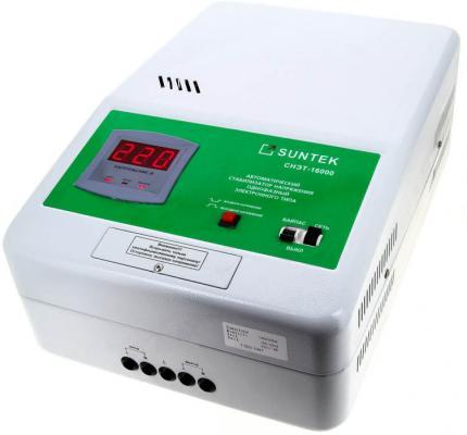 Стабилизатор напряжения Suntek СНЭТ-16000 стабилизатор напряжения suntek 16000 ва нн 16000 вт погрешность 8% выходное напр 209 231 в
