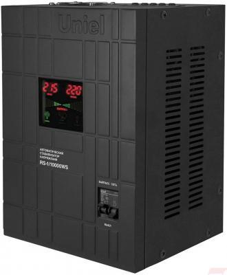 Стабилизатор напряжения UNIEL RS-1/10000WS  однофазный, цифровой 220В 6000Вт вх.:125-270В