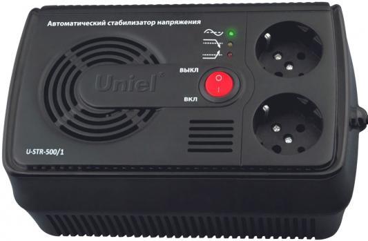Стабилизатор напряжения UNIEL U-STR-500/1 145-280В 500ВА стабилизатор навесной с гальванической развязкой 500 ва uniel