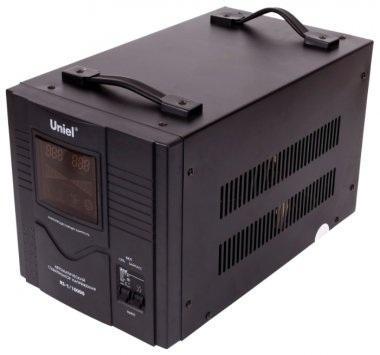 Стабилизатор UNIEL RS-1/10000  однофазный, цифровой 220В, 8000Вт, вх.140-260В