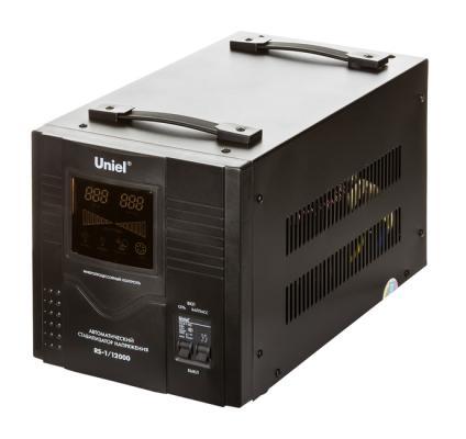 Стабилизатор напряжения UNIEL RS-1/12000 однофазный, цифровой 220В 8000Вт вх.:125-270В цена