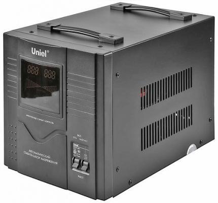 Стабилизатор UNIEL RS-1/3000 однофазный, цифровой 220В, 2400Вт, вх.140-260В цена