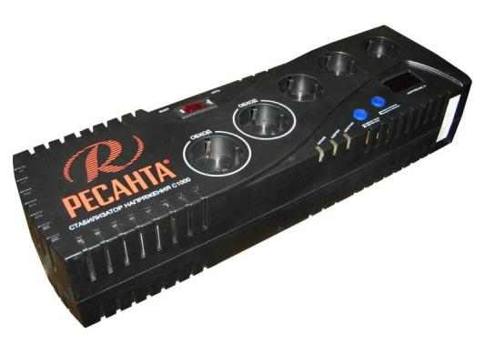 Стабилизатор напряжения Ресанта C 1000 5 розеток стабилизатор ресанта c 1500