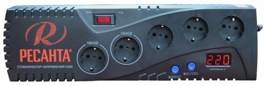 Стабилизатор напряжения Ресанта C 500 5 розеток стабилизатор ресанта c 2000