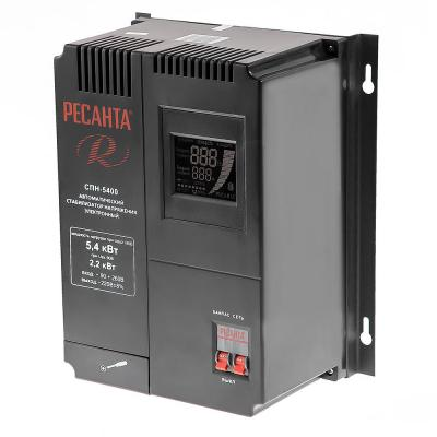 Стабилизатор РЕСАНТА СПН-5400 (СПН-3500) однофазный вх.90-260В вых.220±8% 3.5кВт 9.3кг стабилизатор ресанта спн 2500