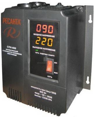 Стабилизатор напряжения Ресанта СПН-900 1 розетка стабилизатор ресанта спн 2500