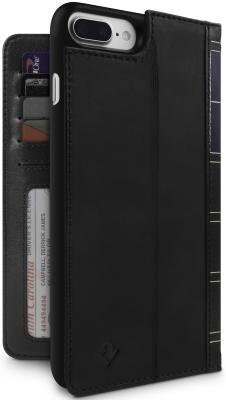 Чехол-книжка Twelve South BookBook для iPhone 7 Plus iPhone 8 Plus iPhone 6S Plus iPhone 6 Plus чёрный 12-1661 uag plyo защитный чехол для iphone 8 7 6s plus grey