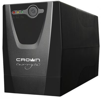 Источник бесперебойного питания CROWN CMU-650XIEC 600 ВА / 300 Вт. Off-Line. 3 х IEC-320. 12V/7AH х источник бесперебойного питания crown 650va cmu sp650iec