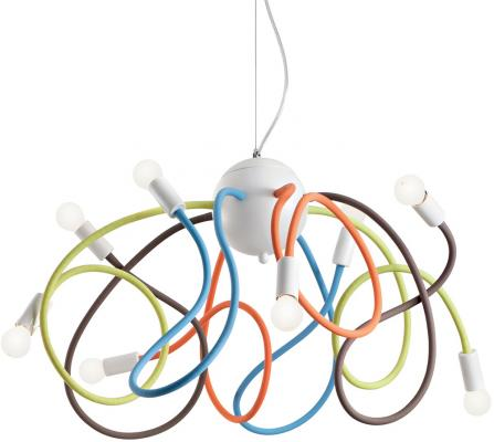 все цены на Подвесная люстра Ideal Lux Multiflex SP8 Color онлайн