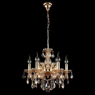 Подвесная люстра Crystal Lux Ines SP6 Gold/Amber подвесная люстра crystal lux romeo sp10 gold d600