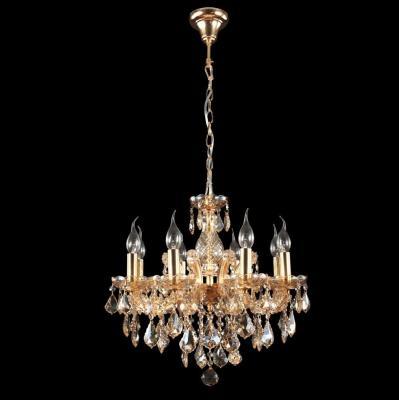 Подвесная люстра Crystal Lux Ines SP8 Gold/Amber потолочная люстра n light 90284 90284 12 gold g9 40w amber crystal