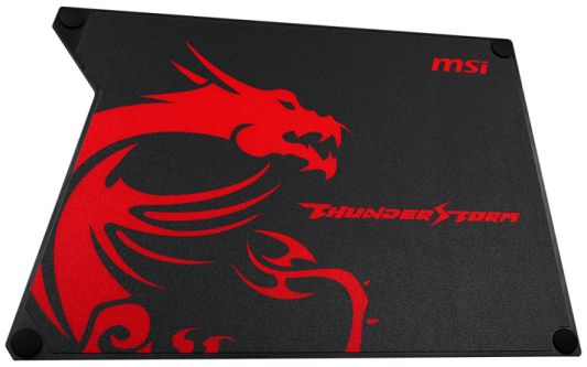 Коврик для мыши MSI Thunderstorm Aluminum GAMING Mousepad mouse pad msi gaming shield mousepad