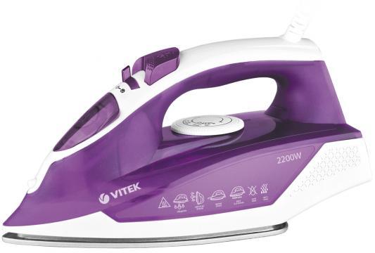 Утюг Vitek VT-8308 VT 2200Вт фиолетовый белый недорого