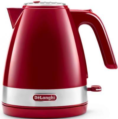 Чайник DeLonghi Delonghi KBLA 2000.R 2000 Вт красный 1 л пластик цена и фото