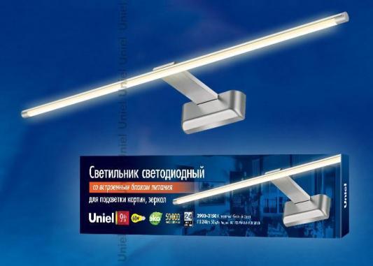 Подсветка для картин (UL-00001058) Uniel ULT-F32-9W/WW IP20 Silver подсветка для картин ul 00001057 uniel ult f32 9w nw ip20 silver