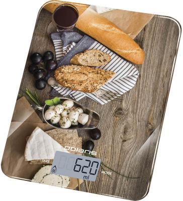 Весы кухонные электронные Polaris PKS 1044DG макс.вес:5кг рисунок кухонные весы polaris pks 1044dg