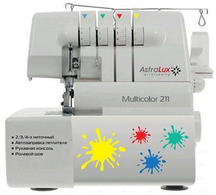 Оверлок Astralux Multicolor 211 белый astralux dc 8373