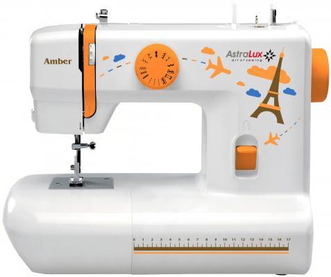 Швейная машина Astralux Amber белый/рисунок швейная машина astralux 156