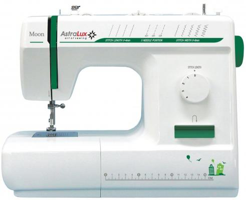 Швейная машина Astralux Moon белый/зеленый