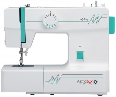 Швейная машина Astralux Styling белый/зеленый компьютеризированная швейная машина astralux 7150