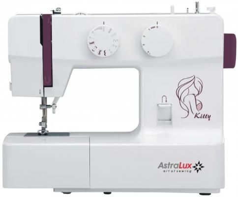 Швейная машина Astralux Kitty белый/рисунок швейная машинка astralux spring