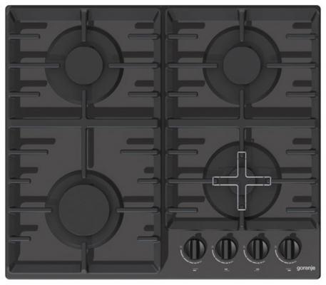 Варочная панель газовая Gorenje GT641ZB черный газовая варочная панель gorenje k6n20ix k6n20ix