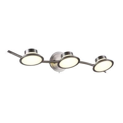 Светодиодный спот IDLamp Simonta 104/3A-LEDWhitechrome светильник спот id lamp simonta 104 1a ledwhitechrome
