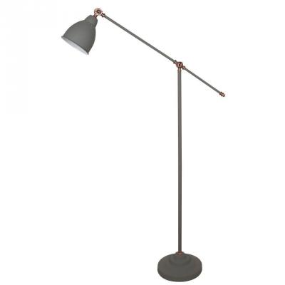 Торшер Arte Lamp Braccio A2054PN-1GY arte lamp торшер arte lamp braccio a2054pn 1wh
