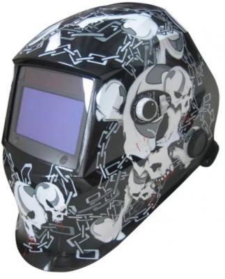 Маска сварочная AURORA SUN-7 CHAIN Хамелеон с увеличенным светофильтром DIN9-13 маска сварщика aurora black glass с поднимающимся светофильтром