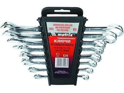Набор комбинированных ключей MATRIX 15404 (8 - 17 мм) 6 шт. набор комбинированных ключей 8 шт matrix 15406