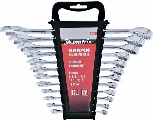 Набор комбинированных ключей MATRIX 15426 (6 - 22 мм) 12 шт. wrench set matrix 15426