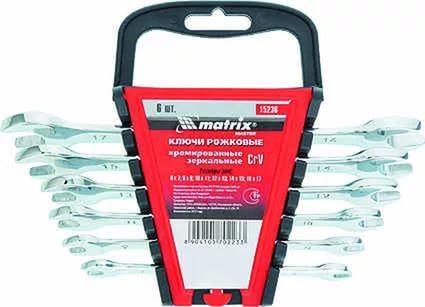 Набор рожковых ключей MATRIX 15236 (6 - 17 мм) 6 шт. matrix 74496 page 6