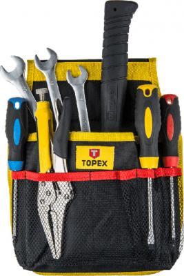Карман для инструмента Topex 79R430 11 гнезд сумка для инструмента 41x23x23 см topex 79r440