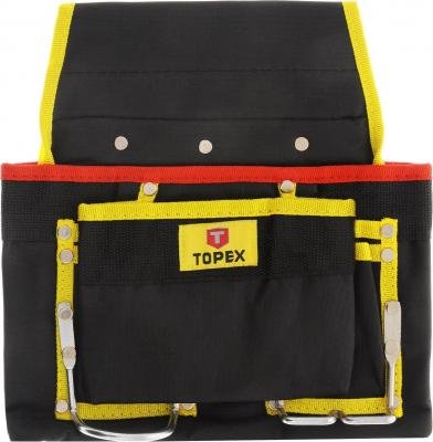 Пояс для инструмента Topex 79R410 регулируемый сумка для инструмента 41x23x23 см topex 79r440