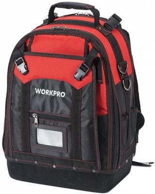 Рюкзак WORKPRO W081065 для инструмента высокой прочности 37карманов нагрузка до 65кг 340х200х430мм цена