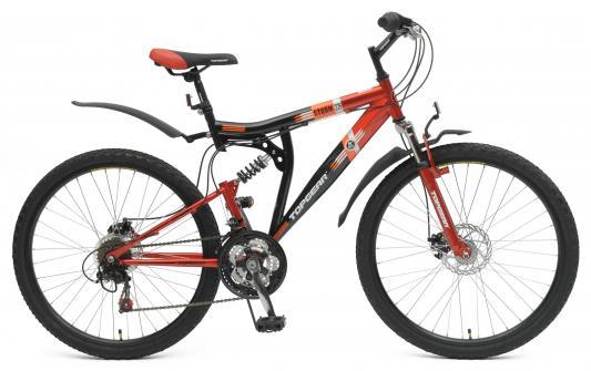Велосипед Top Gear Shimano черно-красный ВН26388Н