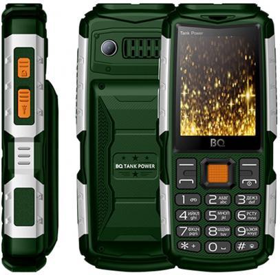 Мобильный телефон BQ 2430 Tank Power зеленый серебристый мобильный телефон bq 2808 telly white blue