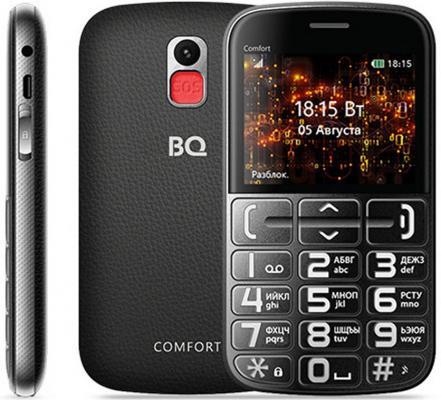 Мобильный телефон BQ 2441 Comfort черный серебристый мобильный телефон bq 2429 touch черный