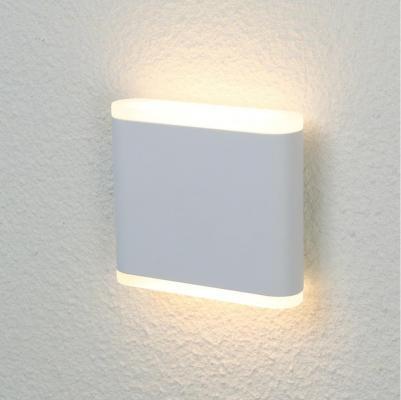 Уличный настенный светодиодный светильник Crystal Lux CLT 024W113 WH настенный светодиодный светильник crystal lux clt 511w425 wh