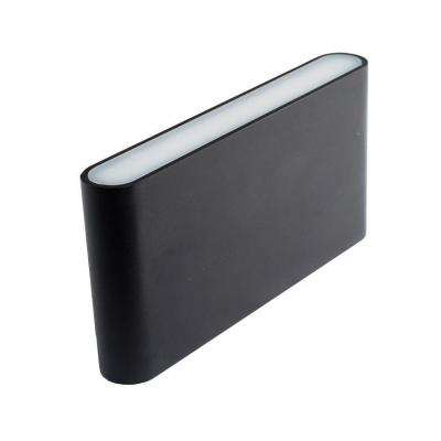 Уличный настенный светодиодный светильник Donolux DL18400/21WW-Black M Dim