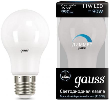 Лампа светодиодная груша Gauss 102502211-D E27 11W 4100K