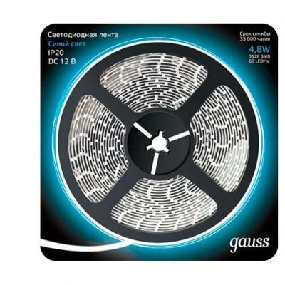 Фото - Светодиодная лента Gauss 5M синий 4,8W IP20 312000505 cветильник галогенный de fran встраиваемый 1х50вт mr16 ip20 зел античное золото