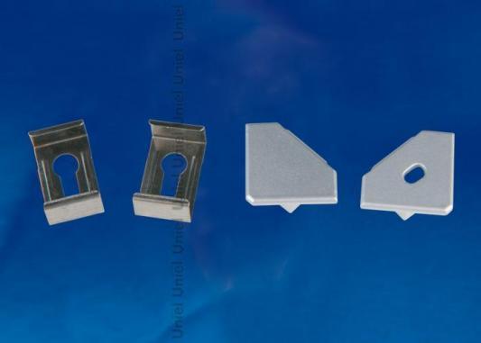 Набор аксессуаров для алюминиевого профиля (4 шт.) Uniel UFE-N04 Silver набор аксессуаров ul 00000622 uniel ufe n02 silver