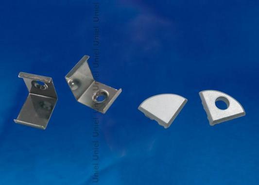 Набор аксессуаров для алюминиевого профиля (4 шт.) Uniel UFE-N06 Silver набор аксессуаров ul 00000622 uniel ufe n02 silver