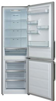 Холодильник Shivaki BMR-1883NFX нержавеющая сталь (двухкамерный) холодильник shivaki sdr 054s