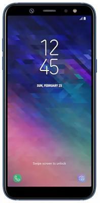 Смартфон Samsung Galaxy A6 2018 32 Гб синий SM-A600FZBNSER смартфон samsung galaxy a6 32 gb sm a 605 золотой