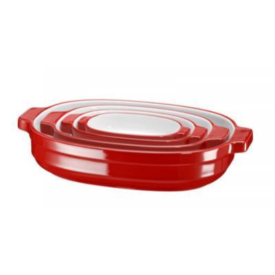 Набор кастрюль KitchenAid KBLR04NSAC 4 предмета (KBLR04NSER) kitchenaid kblr04nsac набор из 4 керамических кастрюль для запекания cream